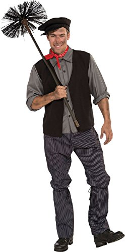 Adultes Fête Noël Bert Mary Poppins Ramoneur Homme Costume Complet Gris