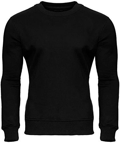 MERISH Unisex Sweatshirt Pullover Roundneck Modell 233 Schwarz
