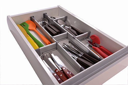 buy adjustable drawer organiser customizable elegant from compare prices at. Black Bedroom Furniture Sets. Home Design Ideas