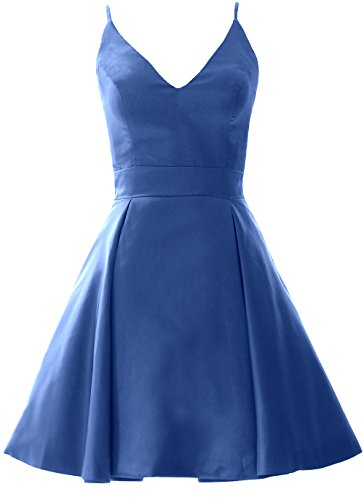 MACloth Elegant V Neck Mini Prom Homecoming Dress Wedding Party Formal Gown Horizon