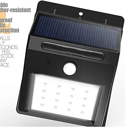 GTTflower Solarinduktionsleuchten Induktionswandleuchten Schalterknöpfe Led Gartenleuchten Kleine Solarenergie (Color : Black)
