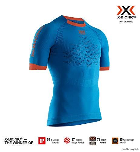 x-bionic the trick 4.0 run, shirt uomo, teal blue/kurkuma orange, xl