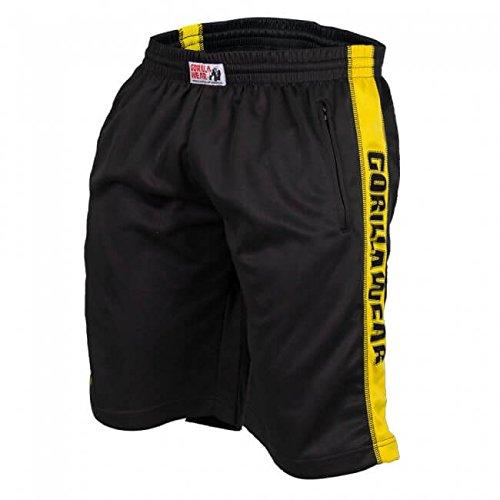 Gorilla Wear Track Shorts Black/Yellow, XXL/XXXL (Shorts Gelb-track)