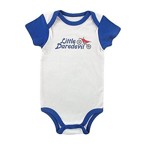 Luvable Friends Baby Sayings Boys Bodysuit Vest (6-9 Months, White Dare Devil)