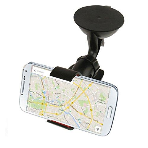 Alienwork Handy Ständer für 3.5-6.0 Zoll Smartphone Universal Halterung Auto Halte Smartphone Stand Halter Halterung Plastik schwarz SD02-01