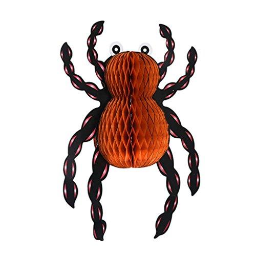 nale Papierstütze Hängende Ornaments Kürbis Spinne Lampions Anhänger Bar Geisterhäuser Halloween Party Ornamente Atmosphäre Dekoration Stil2 (24*35cm) ()