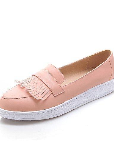 ShangYi Scarpe Donna - Mocassini - Formale / Casual - Plateau / Comoda / Punta arrotondata - Plateau - Finta pelle - Rosa / Bianco / Beige Pink