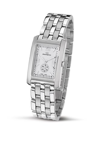 Philip Ladies Tales Analogue Watch R8253422725 with Quartz Movement, White Dial and Stainless Steel Case