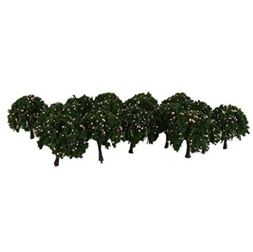 20pcs-1-100-modelo-arbol-frutal-paisaje-ferroviario-plastico-verde-rosa-6cm