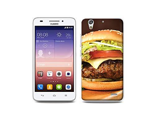 etuo Handyhülle für Huawei Ascend G620s - Hülle, Silikon, Gummi Schutzhülle - Großer Hamburger