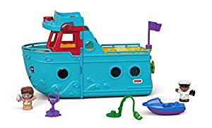 Fisher-Price Little People FXJ47 De plástico vehículo de Juguete - Vehículos de Juguete (Azul, Barco, De plástico, Interior / Exterior, 1 año(s), 5 año(s))
