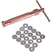 BESTONZON Pistola Extrusora de Arcilla con 20 Discos Intercambiables (Oro Rosa)