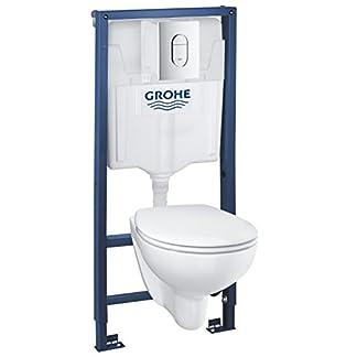 41wG O0bjDL. SS324  - Grohe Solido Diseño cerámica | WC-Solido 4in1con-Diseño de borde cerámica inodoro, 3-6l, 1, 13m, 39418000