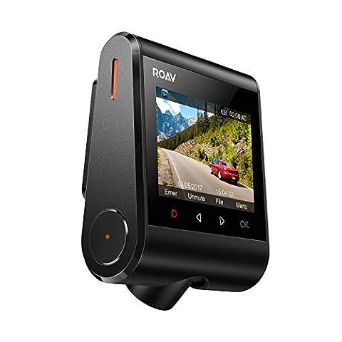Anker ROAV DashCam C1, Wifi Auto Kamera mit Sony Exmor Sensor, 1080P Full HD, 145° Weitwinkel, Nachtsicht, mit G-Sensor, WDR, Schleifenaufnahme und Nacht Modus, inkl. Anker 2 Port Kfz Ladegerät mit Power IQ Technologie