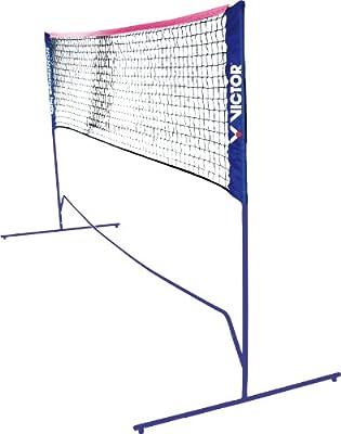 VICTOR Red para Mini-Bádminton -altura regulable- para bádminton y tenis