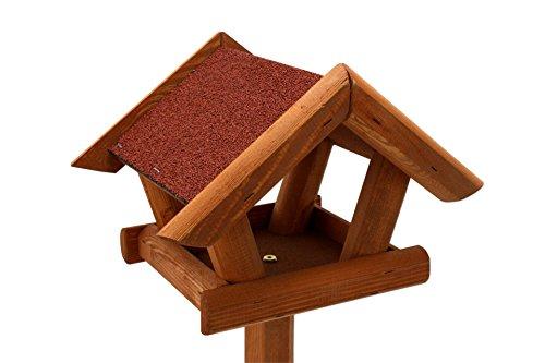 Vogelhaus mit Ständer Kiefer Holz 120 cm Standfuß Vogelhaus - 3