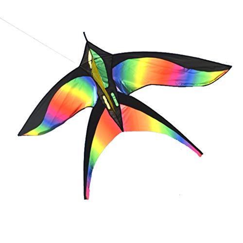 Xu Yuan Jia Shop-Zubehör für Drachen Outdoor Big Kite Große Kinder Kite Fitness Spielzeug Rainbow Bird + 300m Line (Color : B)