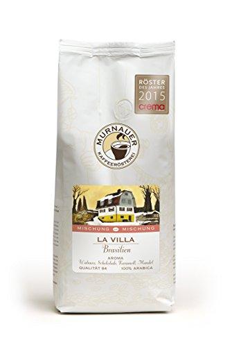 Murnauer Kaffeerösterei LA VILLA - Espressobohnen aus Brasilien - Premium Kaffee - Espresso und Filterkaffee - 250g gemahlen