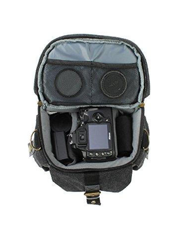 Evecase - Funda para cámara fotográfica universal, color negro, gris