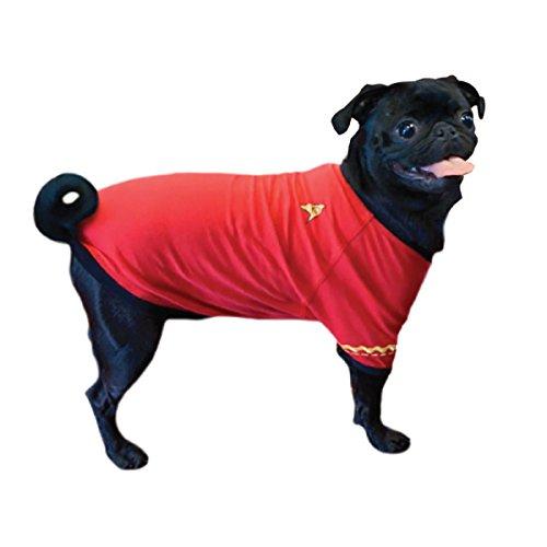 Die Coop Star Trek rot Uniform Hund Shirt, klein -