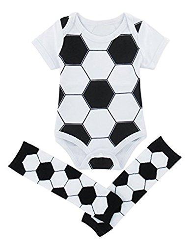 Mombebe Bebé Niños Fútbol Body Con Calentador De Piernas (Fútbol,