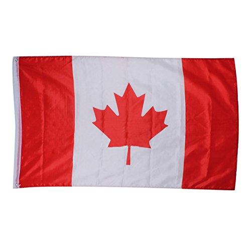 0cm 5 X 3FT Nationale Foerderer Sports Olympiade Flaggen mit Tuelle - kanadische Flagge (3x5 Kanada Flagge)