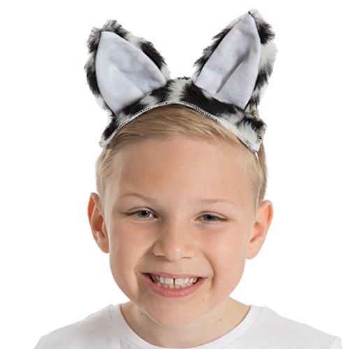Unbekannt Charlie Crow Pelz Zebra Ohren und Schwanz für Kinder 3+ Jahre. (Marty Das Zebra Kinder Kostüm)