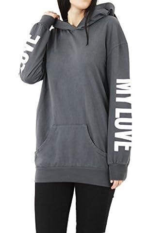 MIA - Sweat à capuche - Femme - gris -