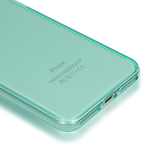 iPhone 8 Plus / 7 Plus Hülle Handyhülle von NICA, Ultra-Slim Silikon Case Cover Crystal Schutzhülle Dünn Durchsichtig, Etui Handy-Tasche Backcover Transparent Bumper für Apple iP 7+ / 8+, Farbe:Türkis Türkis