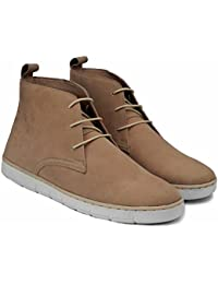Superreal Beige Chukka Boots For Men