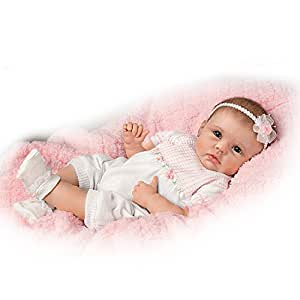 "Ashton Drake So Truly Real ""Olivias Gentle Touch"" Lifelike Baby Girl Doll"