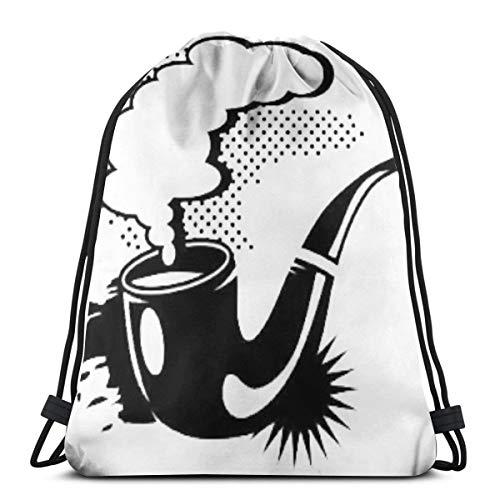 Bag hat A Smoking Tobacco Pipe 3D Print Drawstring Backpack Rucksack  Shoulder Gym for Adult 16 9