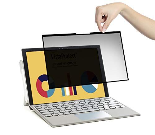 VistaProtect - Premium Blickschutzfilter und Schutzfolie für Microsoft Surface Book 2 - Entfernbar (13.5