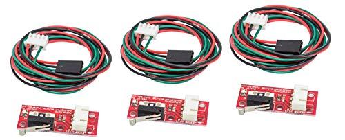 MissBirdler 3 stück mechanischer Endschalter EndStop mit Kabel für 3D Printer Drucker RAMPS 1.4 i3 CNC -