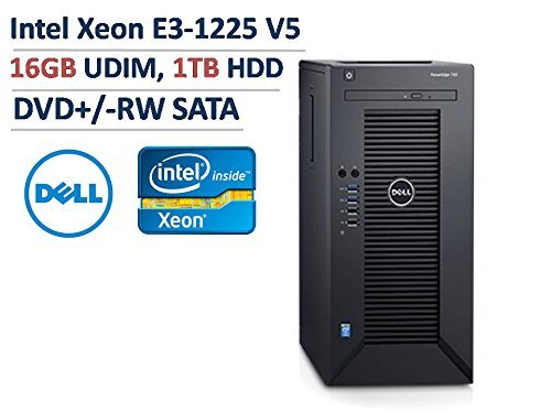2017-18 Newest Dell PowerEdge T30 (Latest) Mini Tower Server Desktop , Intel Xeon E3-1225 v5 3.3G, 8M cache, 16 GB UDIMM, 2400MT/s, 1TB Hard Drive, Without Key boar+ Mouse, Without Display or monitor:------only have Deal Expert Store