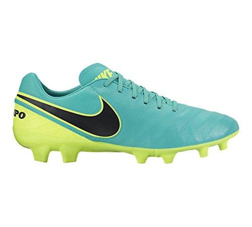 Nike Tiempo Mystic V FG, Chaussures de Foot Homme Clear Jade/Black-Volt