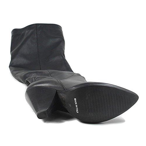 Personal Shoepper Stivali Alti Cuissard Donna al Ginocchio Tacco Alto Punta Fina 0318 Nero in Vera Pelle Made in Italy Nero