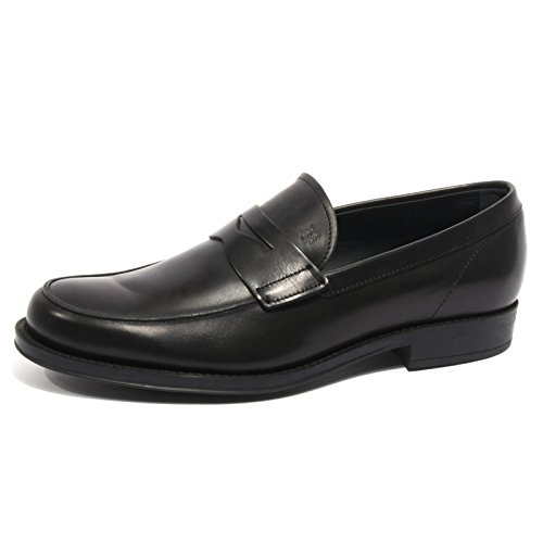 B2012 mocassino uomo TOD'S scarpa nero loafer shoes men [8.5]
