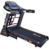 Powermax Fitness TDA-230M (2.0 HP), Semi-Auto Lubrication, Motorized Treadmill with Massager, Dumbbells, Sit-up & Twister