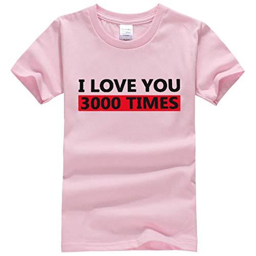 squarex ® Kinder Jungen Ich Liebe Dich Brief gedruckt T-Shirt Kleinkind Tops Baby Kurzarm Mädchen Casual Tops Kleidung bequem -