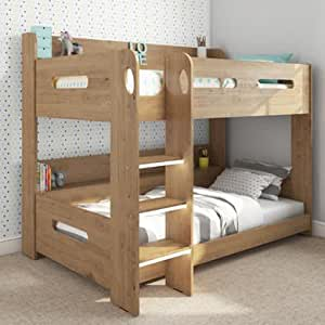 loft bed with storage sky bunk bed in oak chunky steps for safe climbing 31101