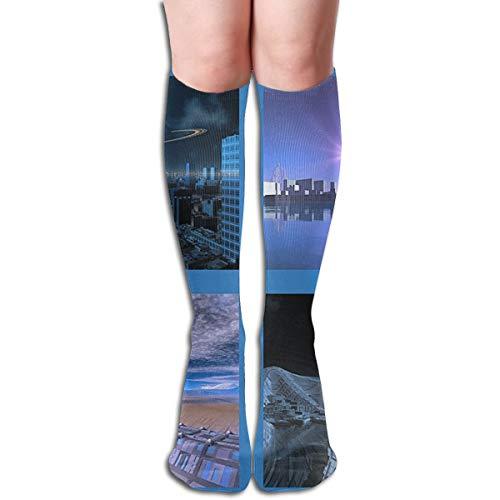 Kompressionssocken Erwachsene Kniestrümpfe Gym Outdoor Socken 50cm 19.7inch ()
