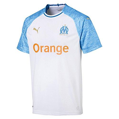Puma Olympique de Marseille Home Maillots White/Bleu Azur, 3X-Large