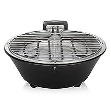 Tristar BQ-2884 barbecue elettrico, Acciaio Inossidabile, Nero