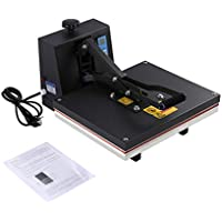 Funnyrunstore 40 x 50 cm Máquina de prensa de calor plano de alta presión Impresora Sublimación de transferencia para impresión de camiseta Máquina de impresión de platina de calor