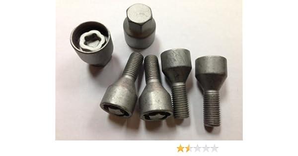 Key 12mm x 1.5mm Steel Locking Replacement Wheel Nut Bolt Set Car Alloy