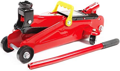 JOMAFA - Gato hidraulico de carretilla 2 toneladas para levantar vehiculos, rojo