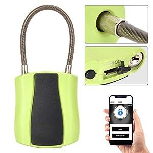 41wG9sblVEL. SS300 Naroote Lucchetto Intelligente, Lucchetto App Senza Chiave USB a Basso consumo per Telefono a 2 Colori(Verde)