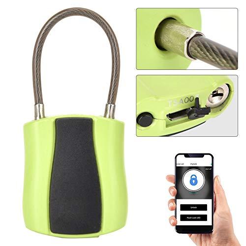 Naroote Candado Inteligente, Cerradura de aplicación de teléfono de Baja Potencia USB sin Llave 2...