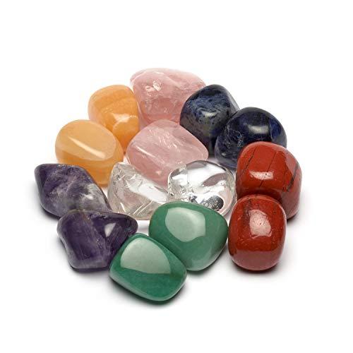 Großes Wasseredelstein-Set | Mischung mit 7 beliebten Sorten | Premium Wassersteine zur Herstellung von Edelsteinwasser | Edelsteine